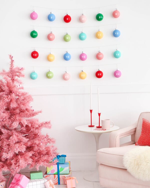 ornament garland advent calendar