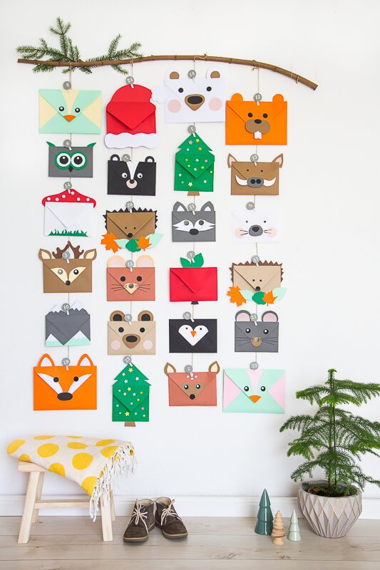 animal envelope advent calendar