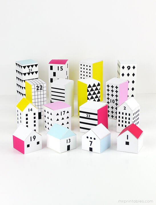 paper house advent calendar