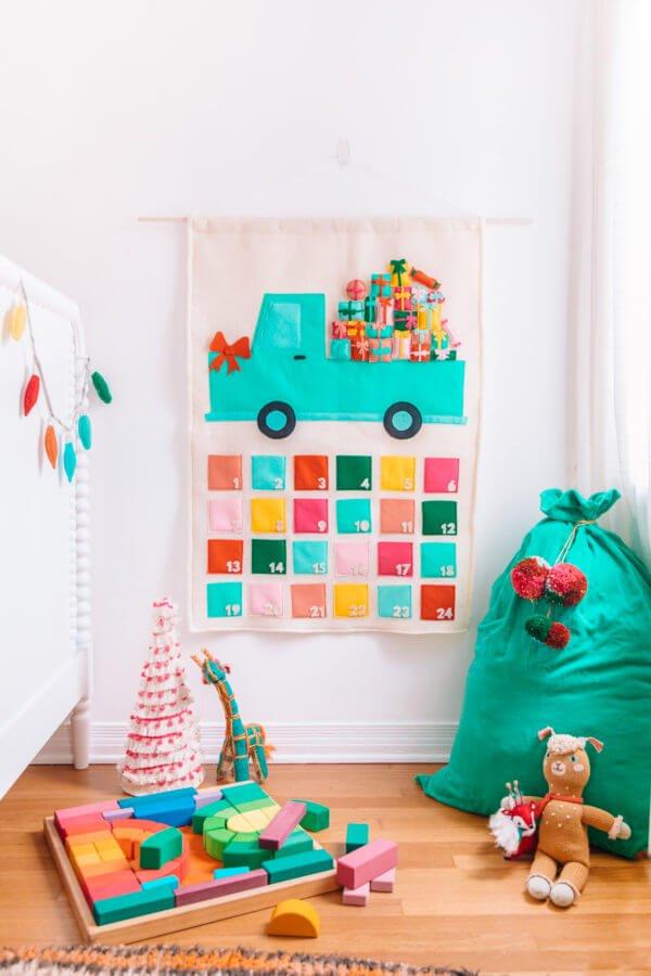 felt truck advent calendar