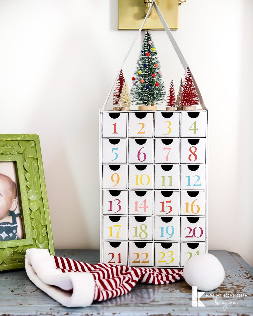 colorful diy advent calendar