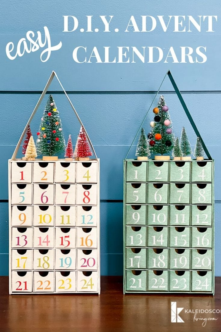 Diy Advent Calendar With Cricut Air Explore 2 Kaleidoscope Living