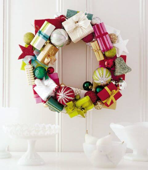 gift box wreath