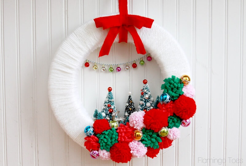 vintage winter wonderland wreath