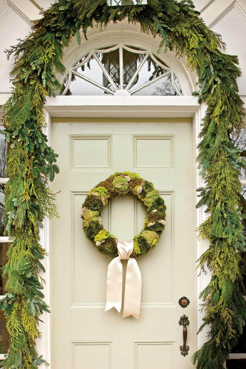 moss wreath and garland