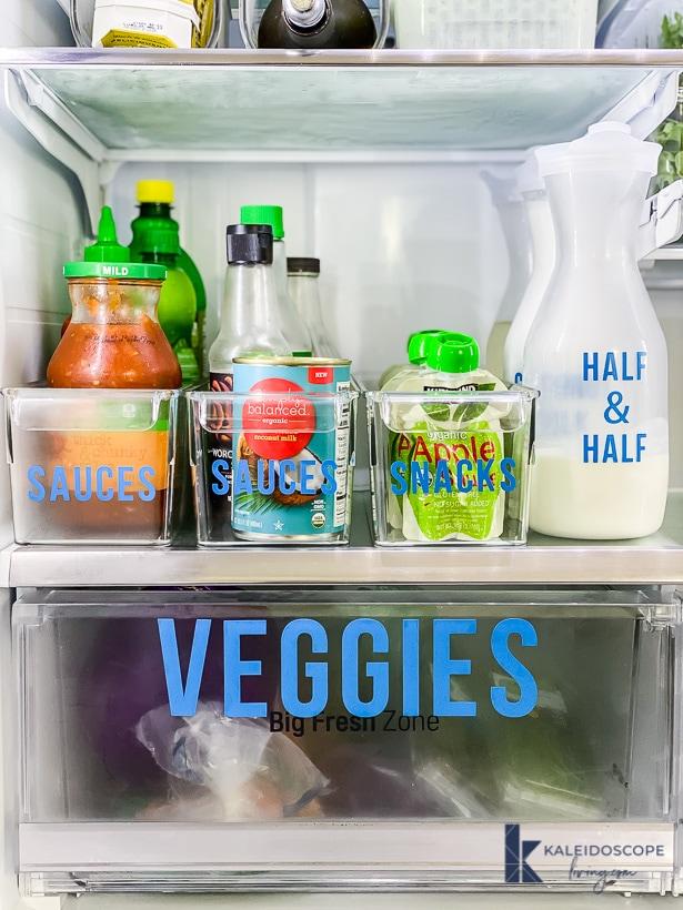 french door refrigerator organization