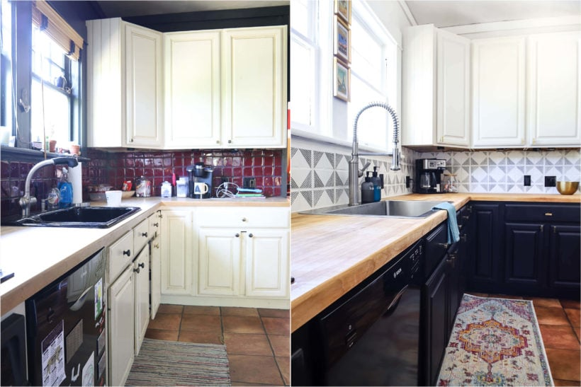 budget-friendly kitchen remodel before and after
