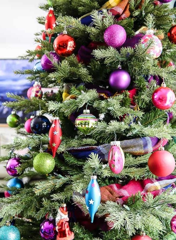Bright, Bold & Colorful Christmas Tree
