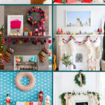 bright and cheery christmas mantel ideas