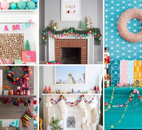 Cheery and Bright Christmas Mantel Ideas