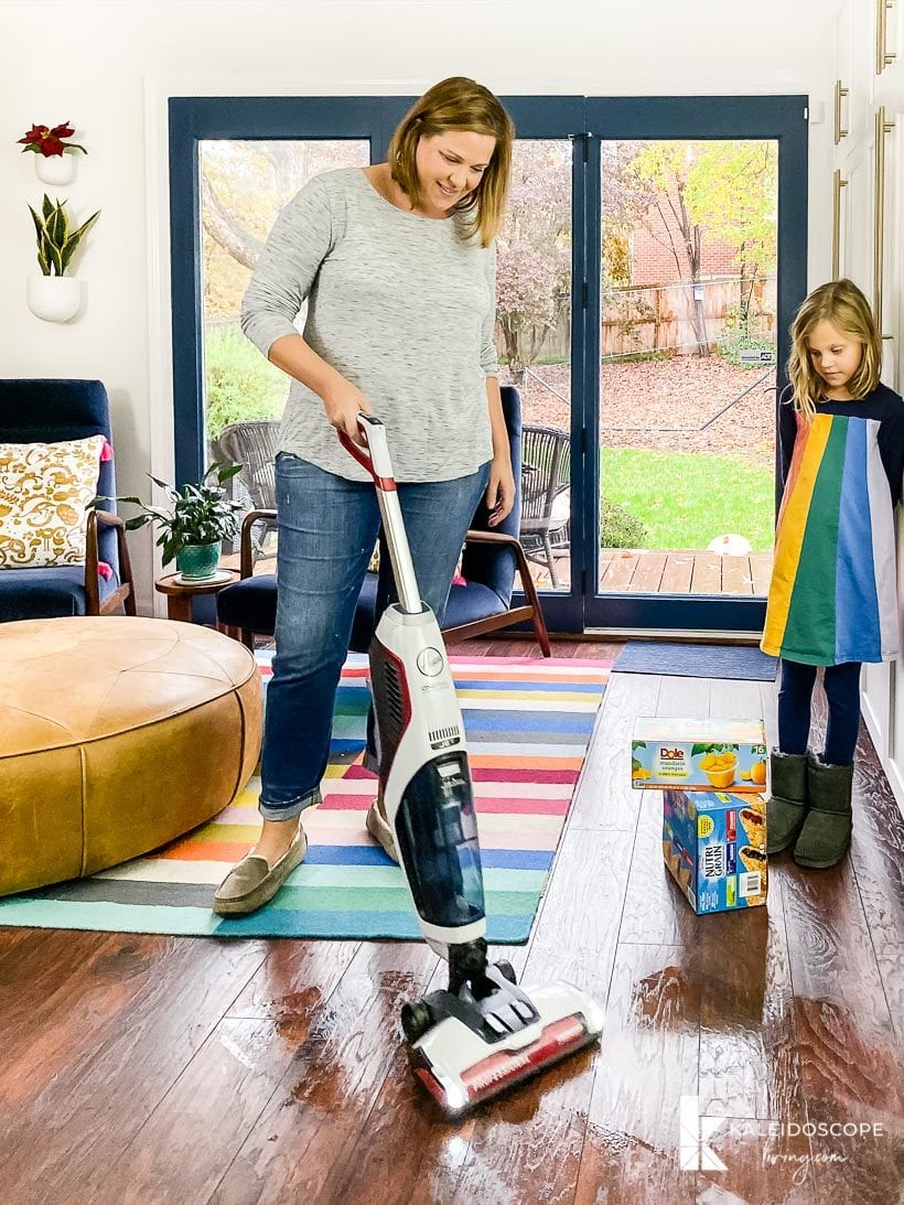 Hoover ONEPWR FloorMate JET Hard Floor Cleaner in use