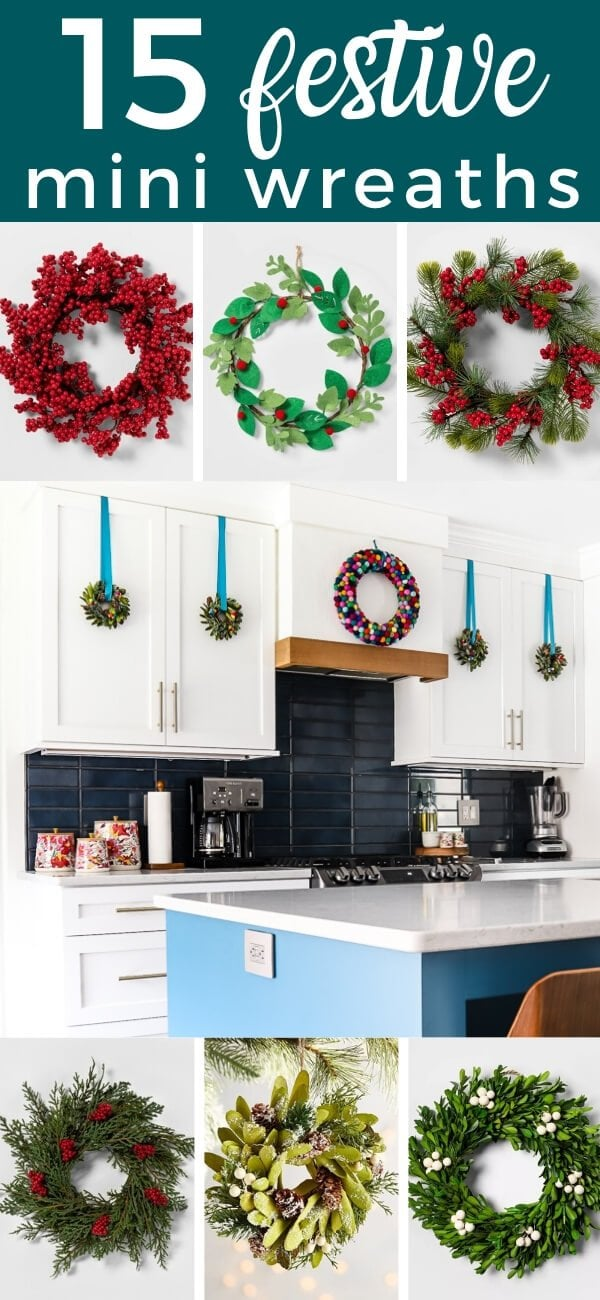 festive mini wreaths
