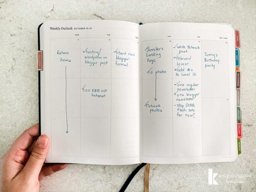 Ink + Volt planner