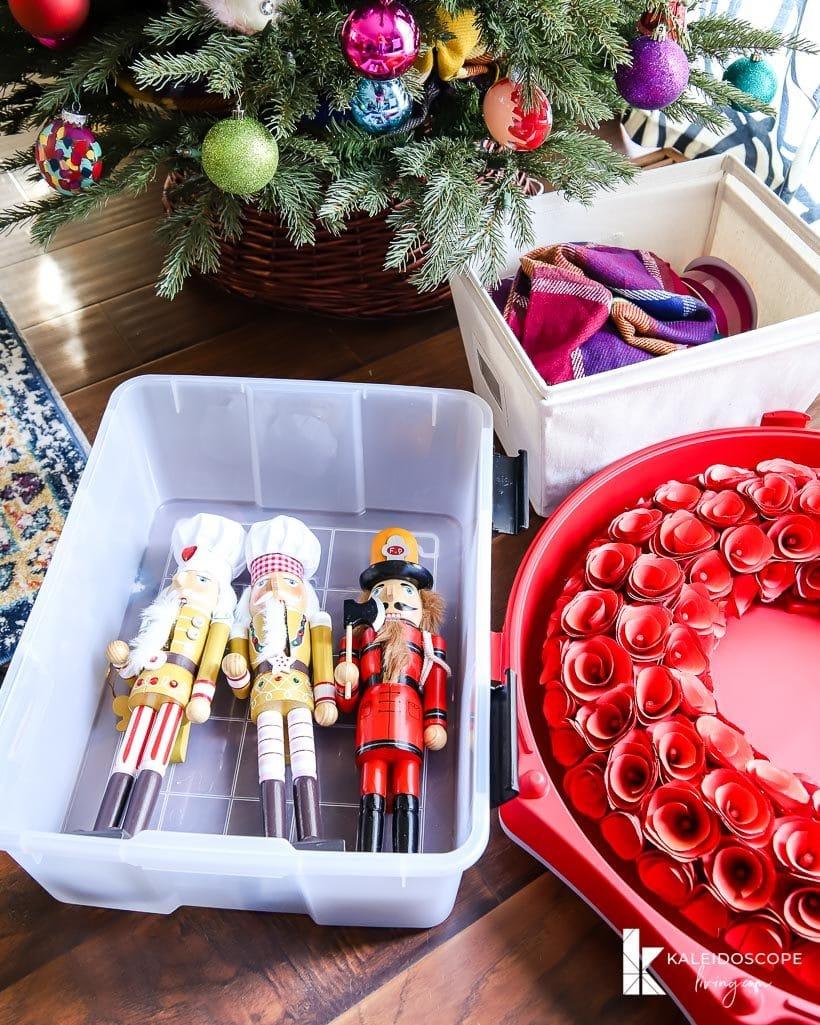 Christmas decor storage solutions