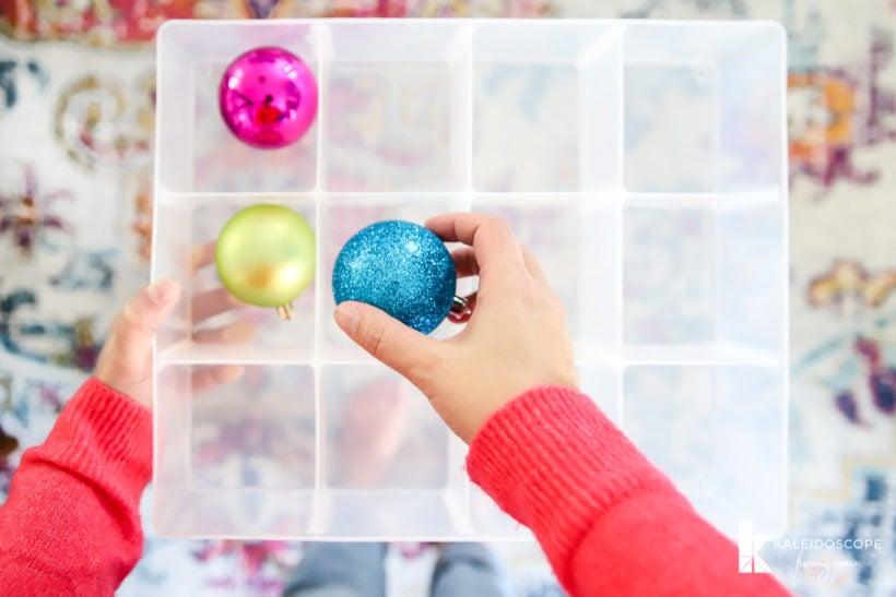 christmas ornament storage