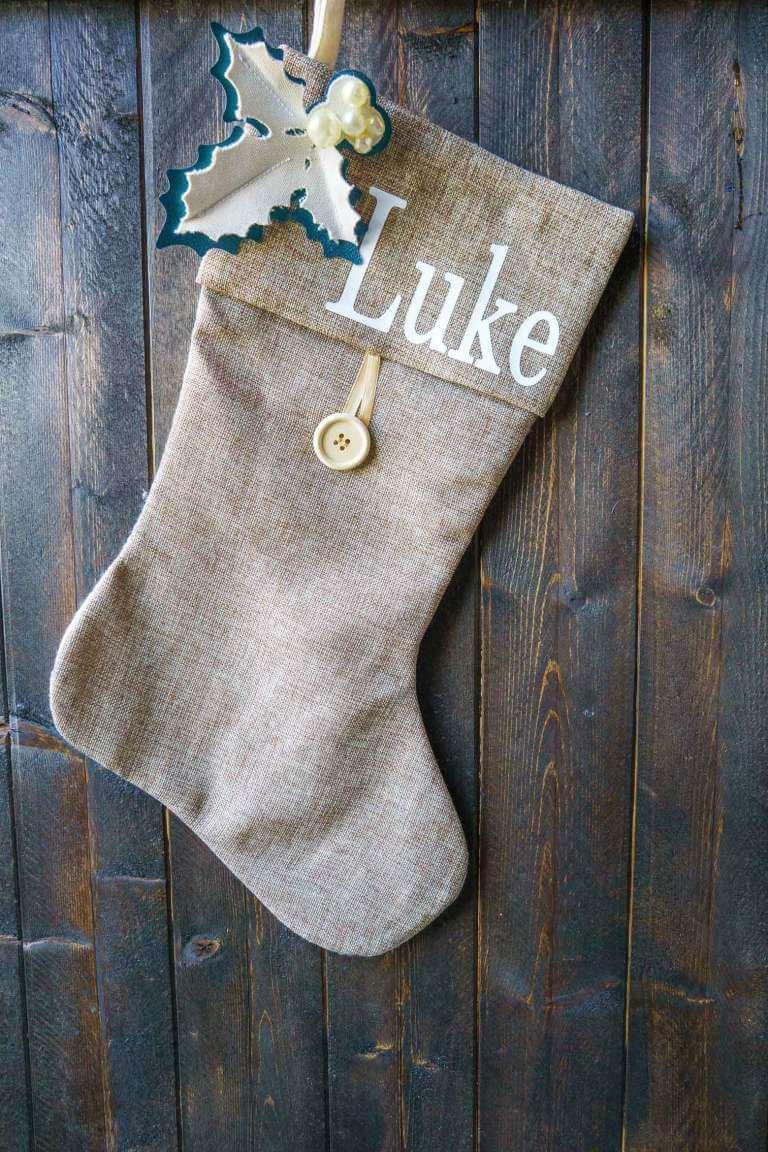 personalized burlap stocking