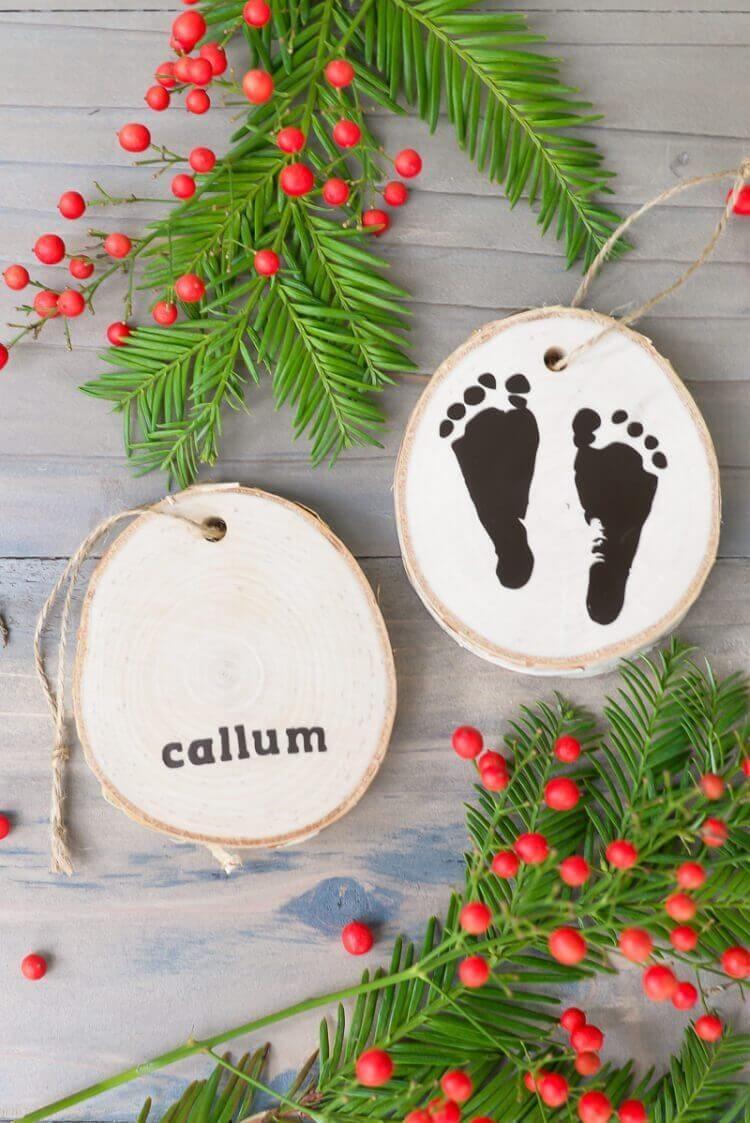 baby feet ornament