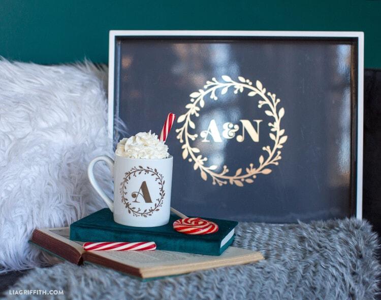 DIY monogrammed gifts