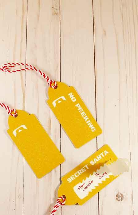 no peeking gift tags