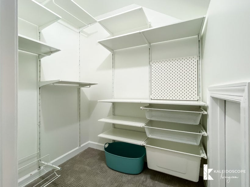 fully installed IKEA closet system