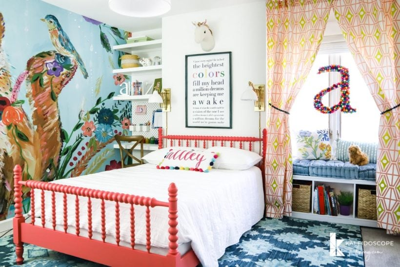 whimsical girl's bedroom with jenny lind bed