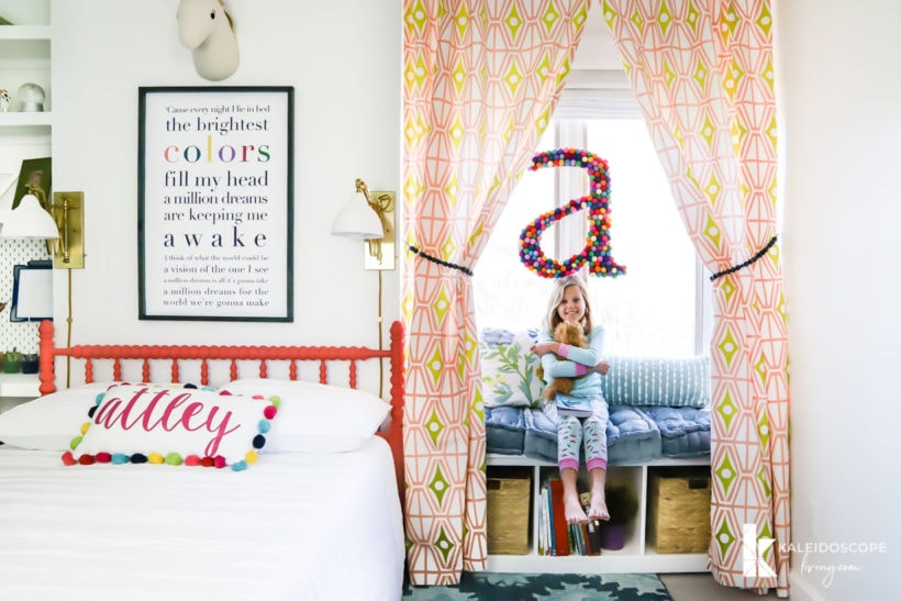 colorful little girl's bedroom