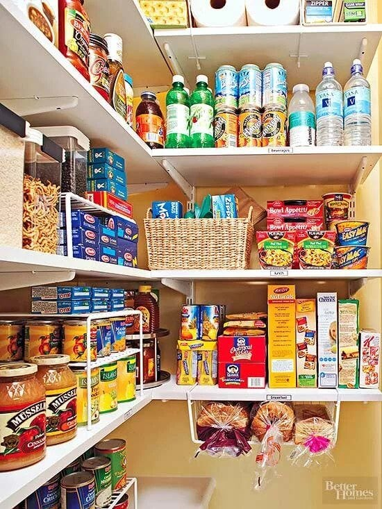 simple organized pantry