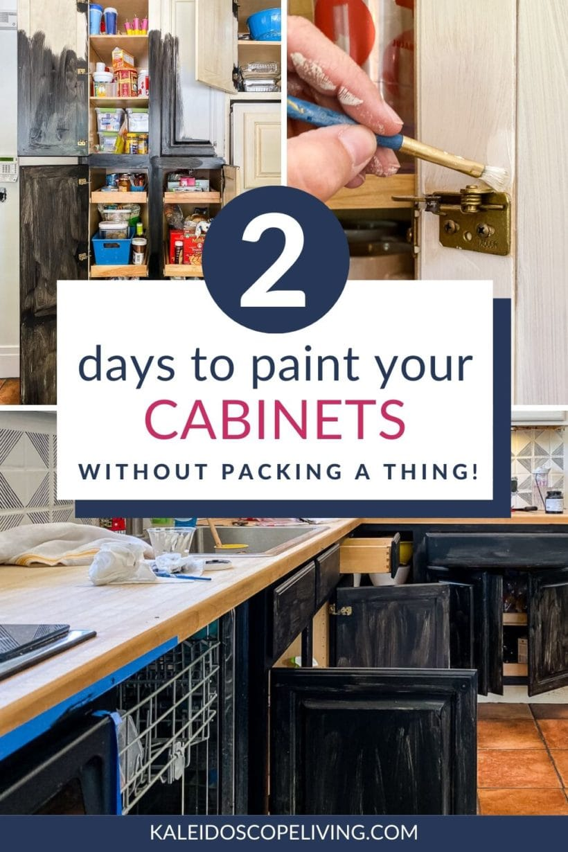 how to paint kitchen cabinets in 2 days