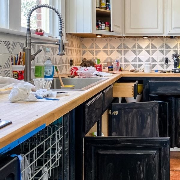 how to paint kitchen cabinets the easy way