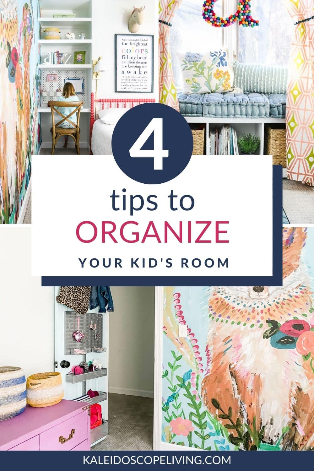 4 tips to organize your kid's room