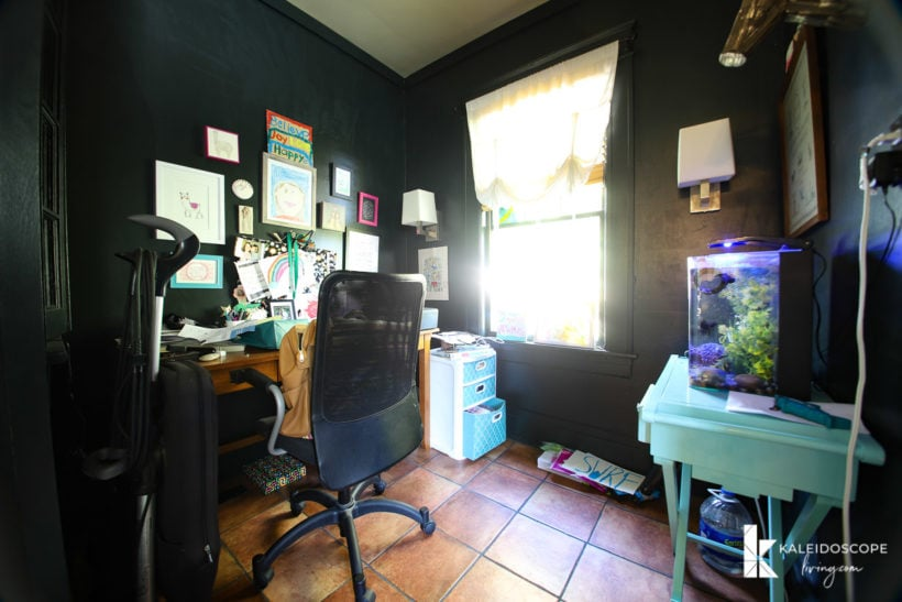 dark outdated home office