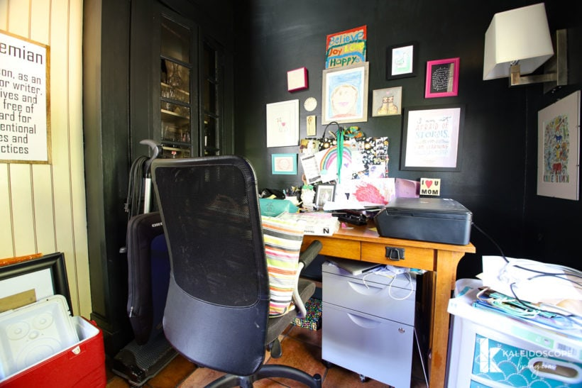 outdated dark home office
