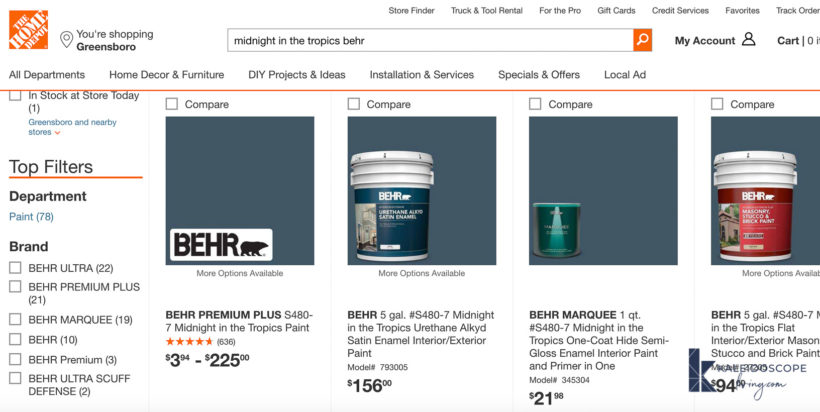 order paint online from Home Depot