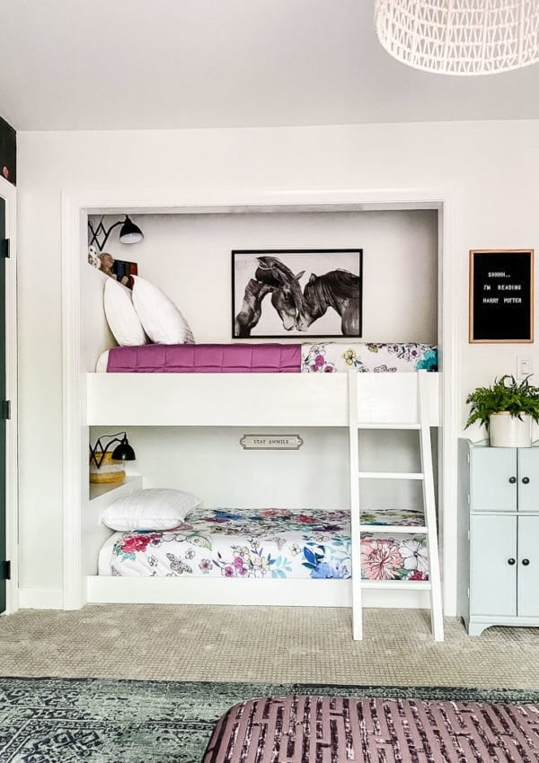 Avery's Built-in Bunk Beds and Room Reveal!