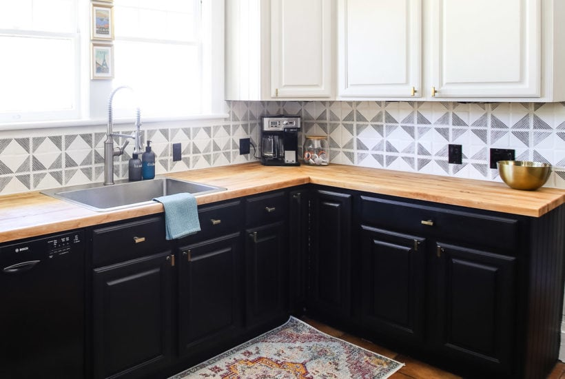 refinished butcher block countertops