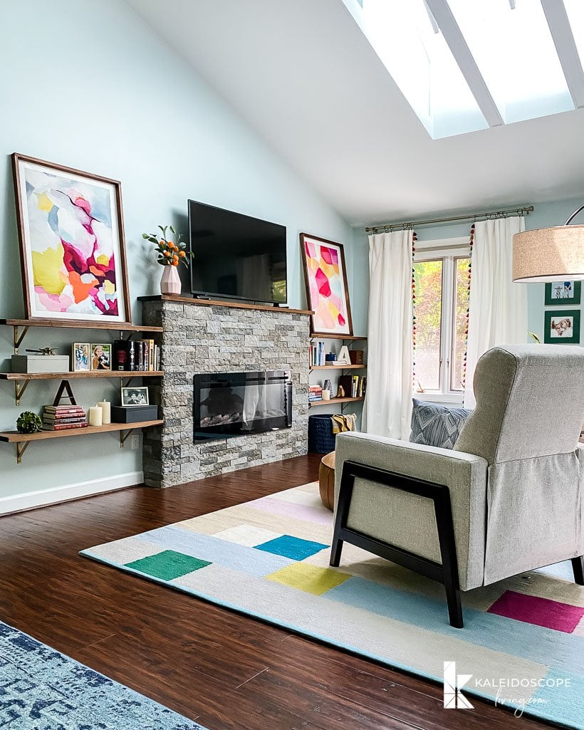 colorful sitting area