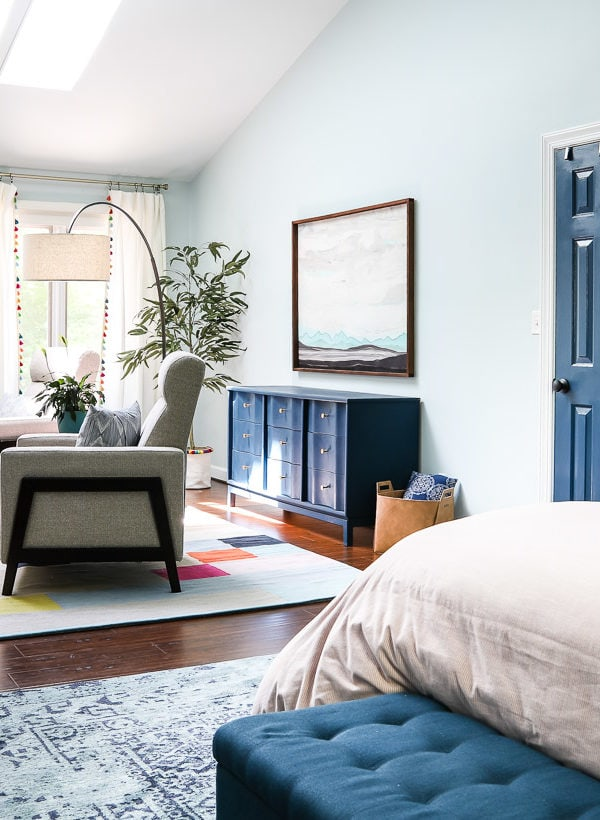 Our Colorful Master Bedroom REVEAL