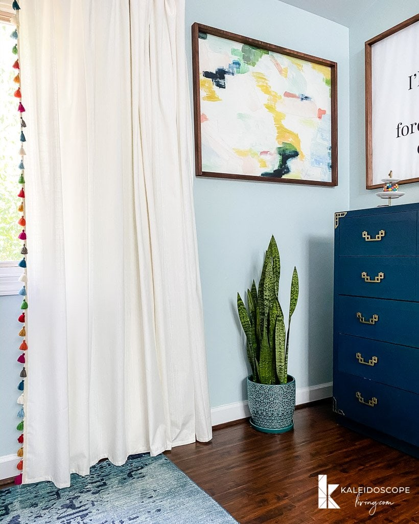 diy curtains with colorful tassels