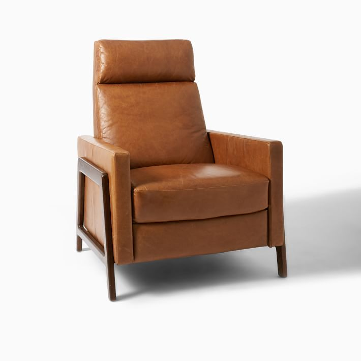 high backed leather recliner