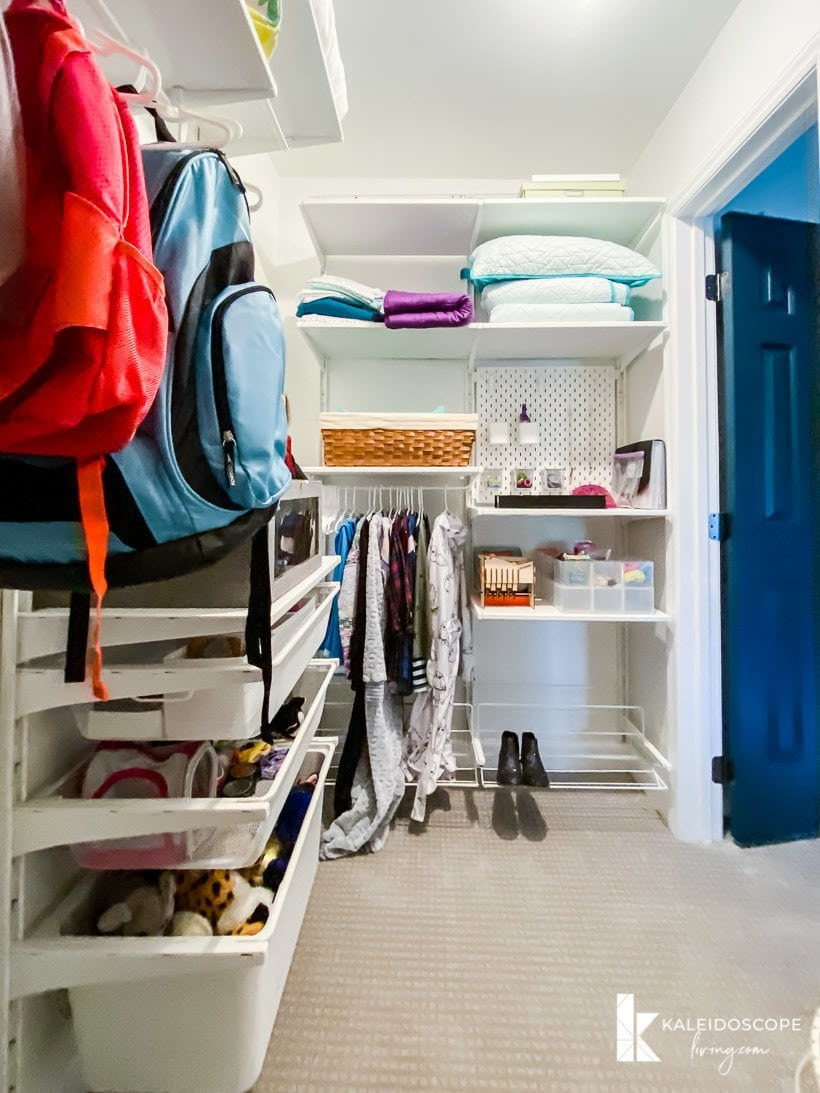 organized child's closet