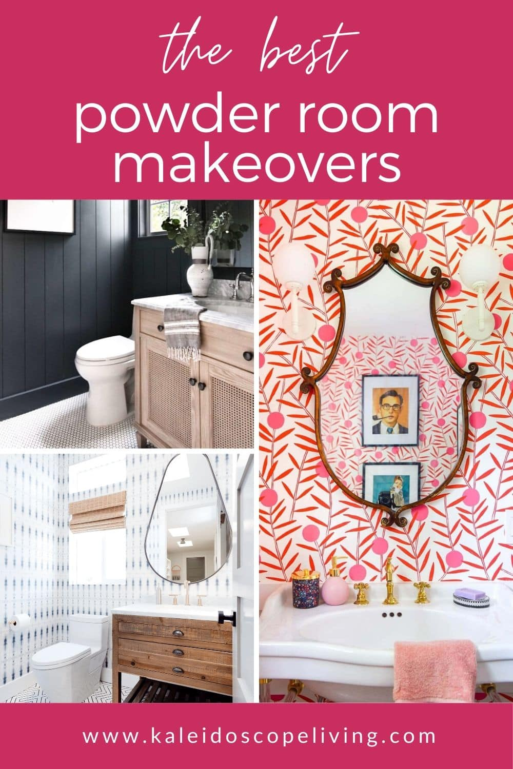 stunning powder room makeovers