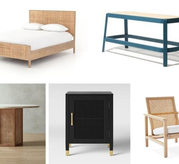 The Best Cane Furniture Pieces (no matter your style!)