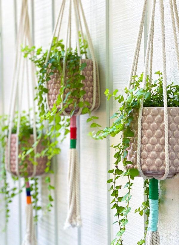 DIY Macrame Plant Hanger Tutorial