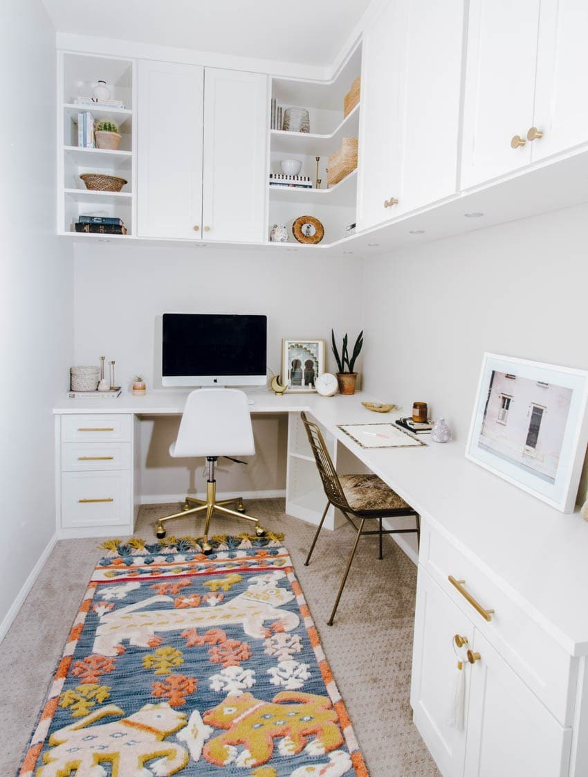 creating a home office with tall storage