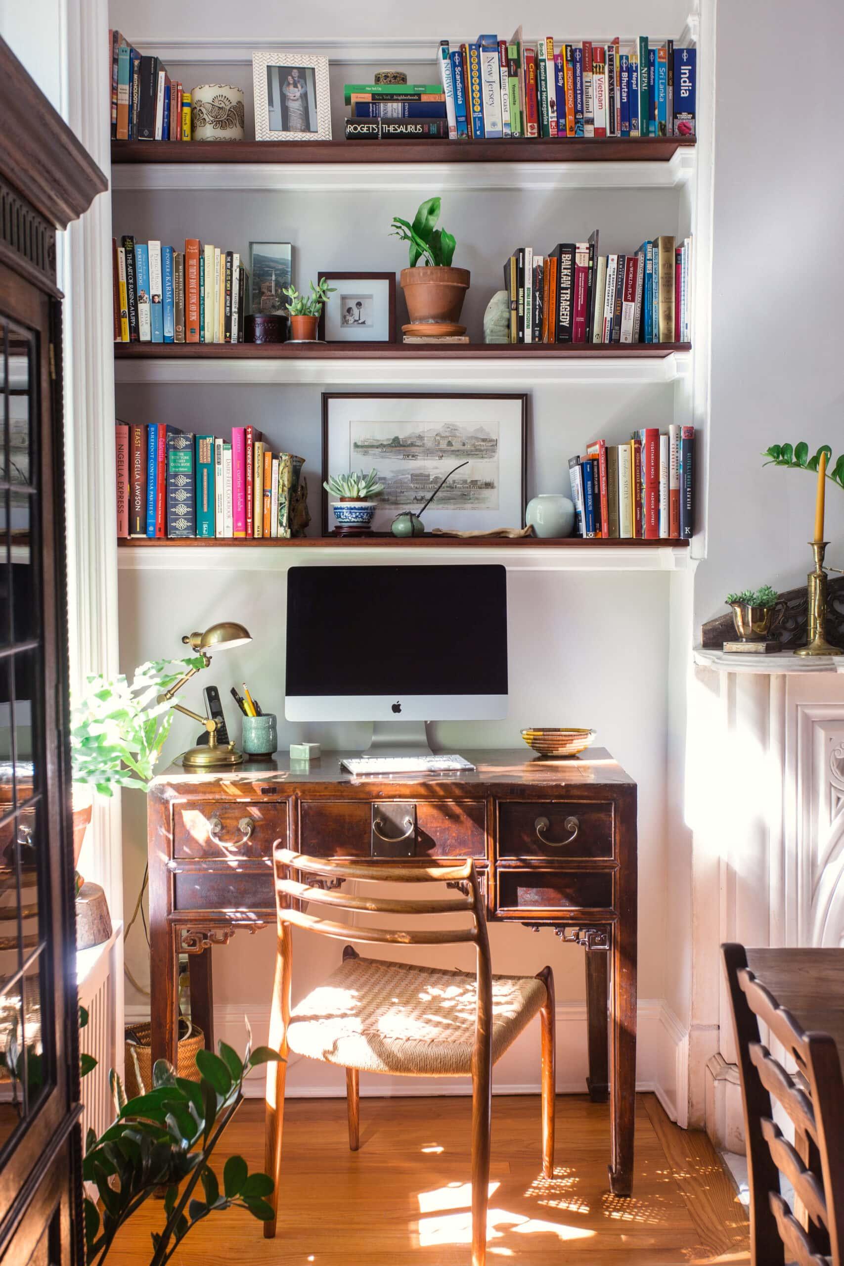 antique desk with built ins