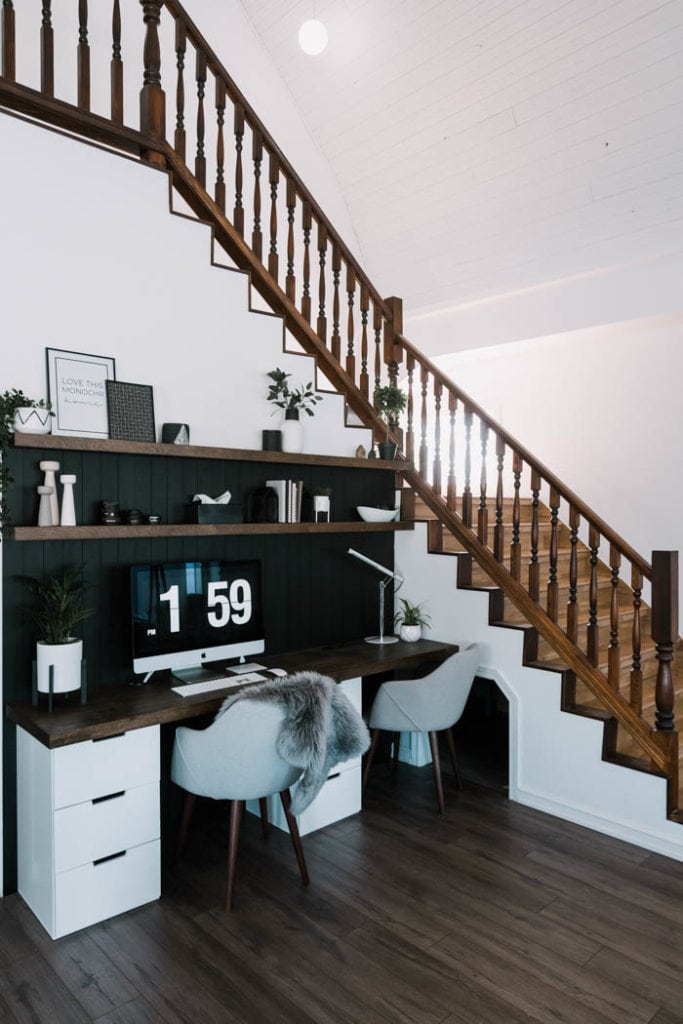 office space by the stairs