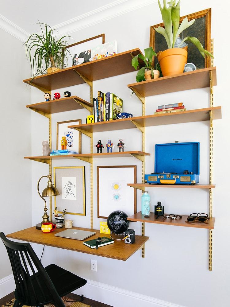 desk made from shelving
