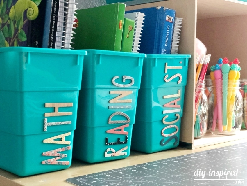 bins for homeschool