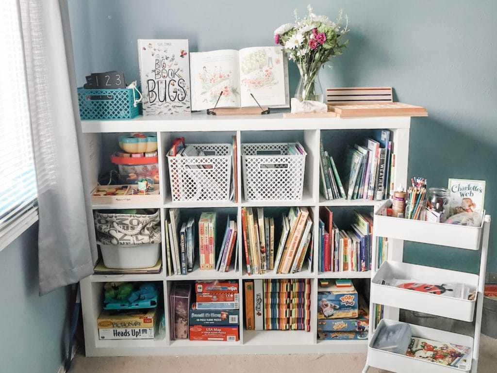 cube storage for homeschool room