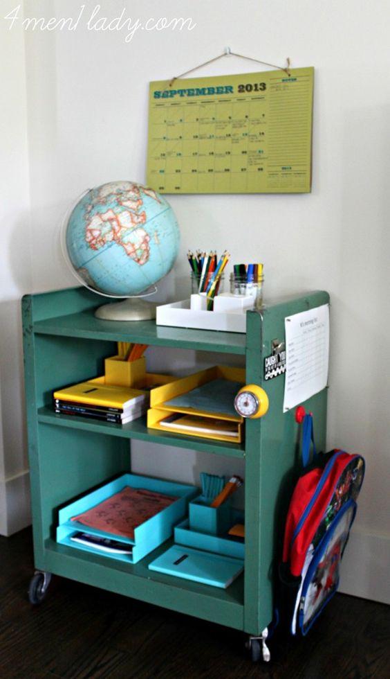 antique book cart homework station